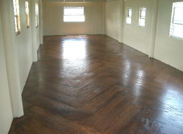 Herringbone inside flooring
