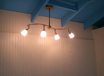 Lighting installed in loft, great for crafts!